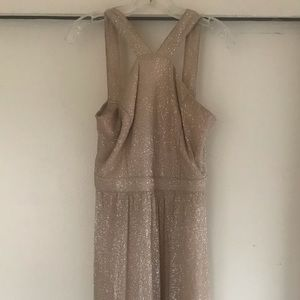 Gold/Champagne Sparkly Maxi Bridesmaids Dress